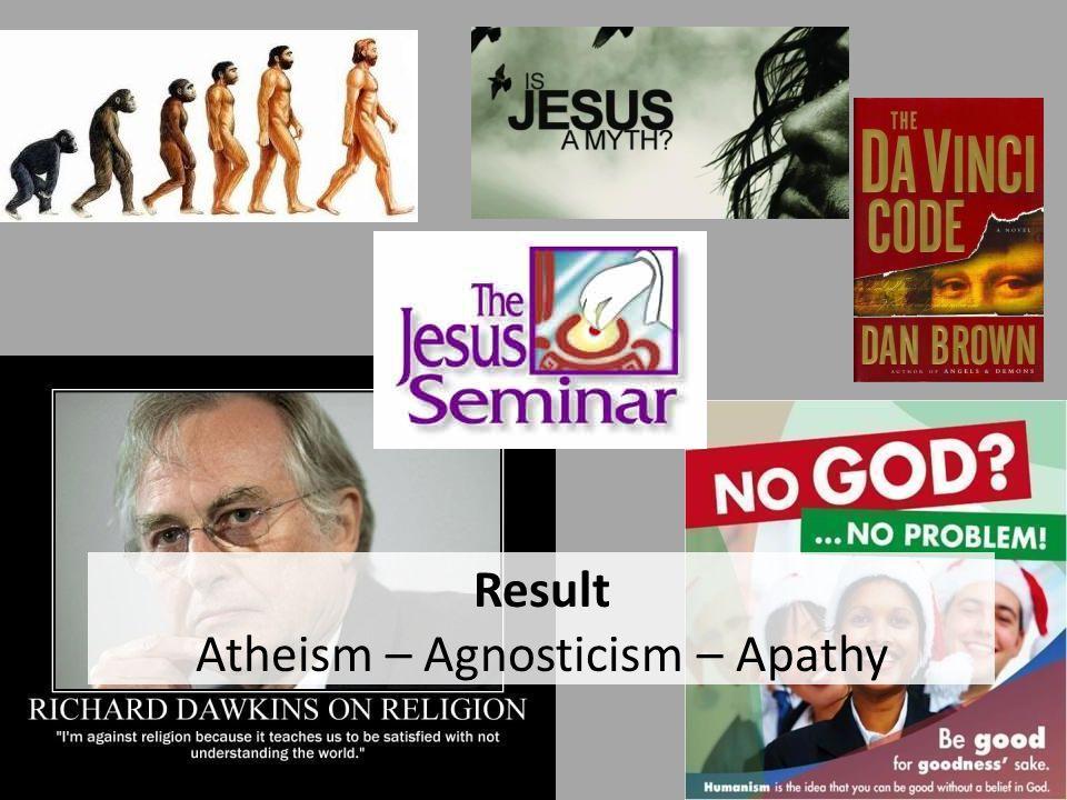 Result Atheism – Agnosticism – Apathy