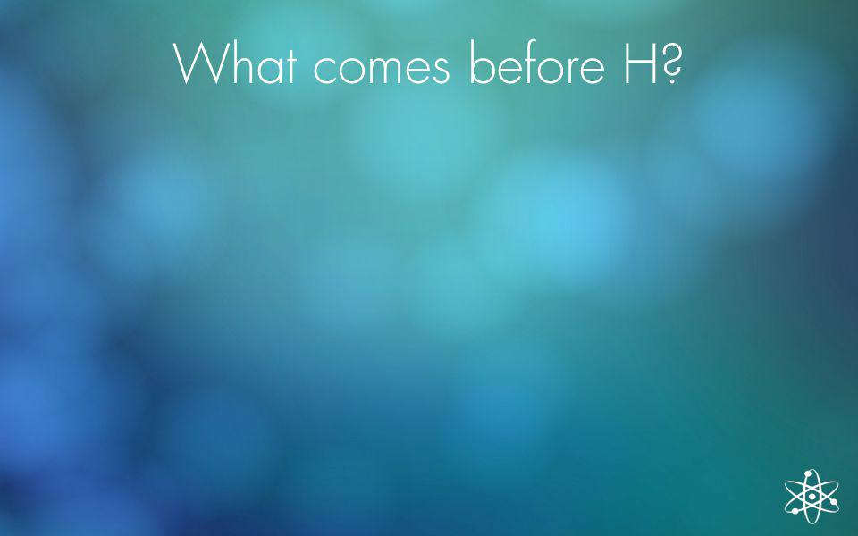 What comes before H?