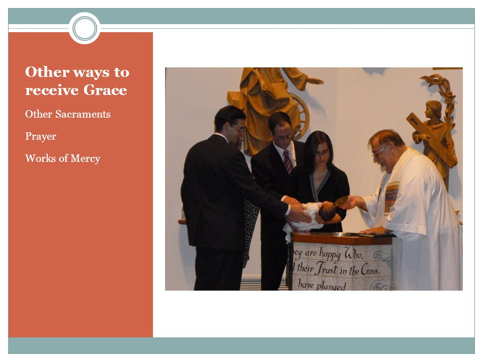 Other ways to receive Grace Other Sacraments Prayer Works of Mercy