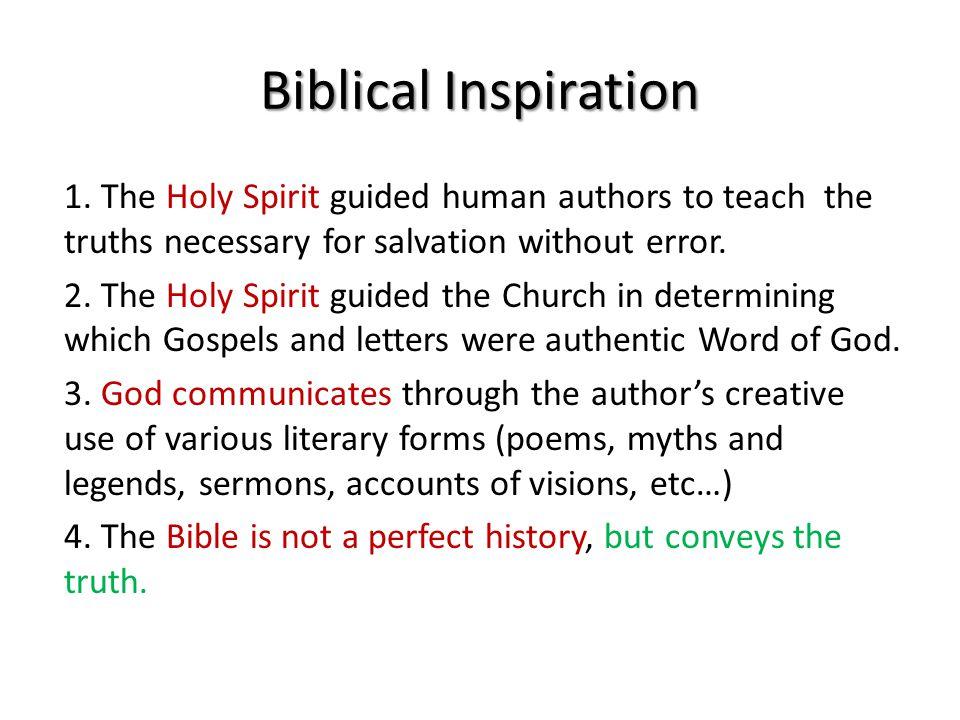 Biblical Inspiration 1.