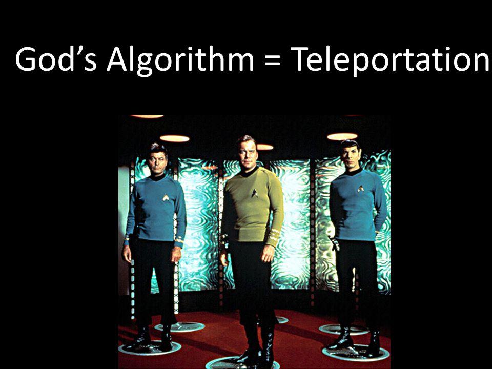 God's Algorithm = Teleportation