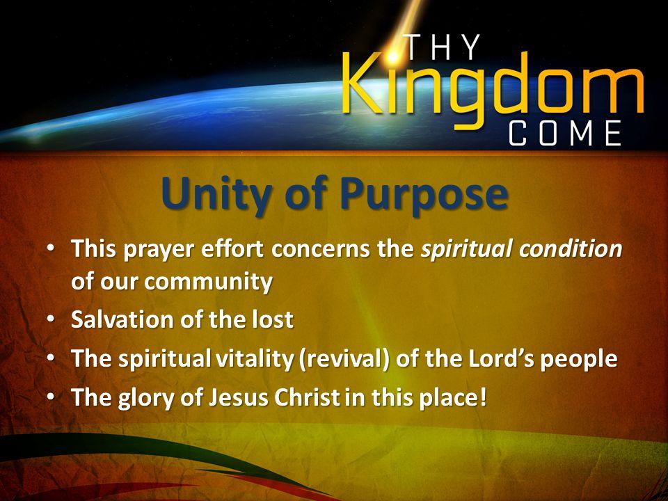 This prayer effort concerns the spiritual condition of our community This prayer effort concerns the spiritual condition of our community Salvation of