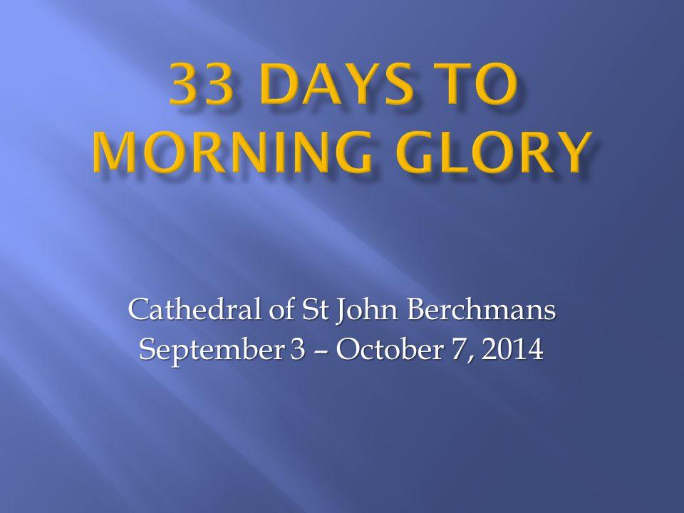 Cathedral of St John Berchmans September 3 – October 7, 2014