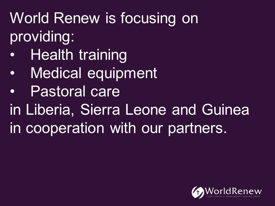 Our Partners Christian Reformed World Missions Council of Churches in Sierra Leone Christian Extension Services in Sierra Leone Christian Health Association of Liberia Timothy Leadership Training Institute Emmaus Schools - Guinea