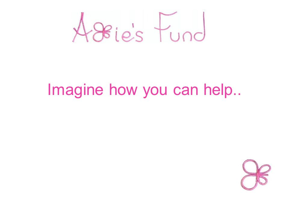 Imagine how you can help..