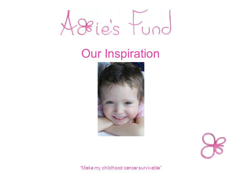 "Our Inspiration ""Make my childhood cancer survivable"""