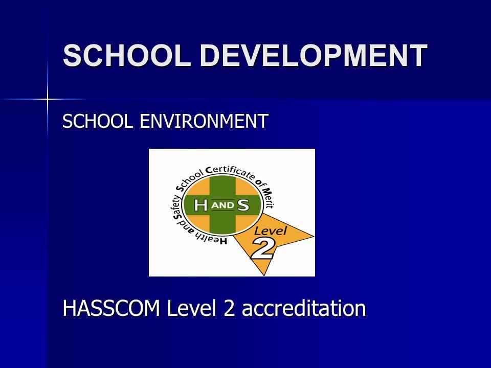 SCHOOL DEVELOPMENT SCHOOL ENVIRONMENT HASSCOM Level 2 accreditation