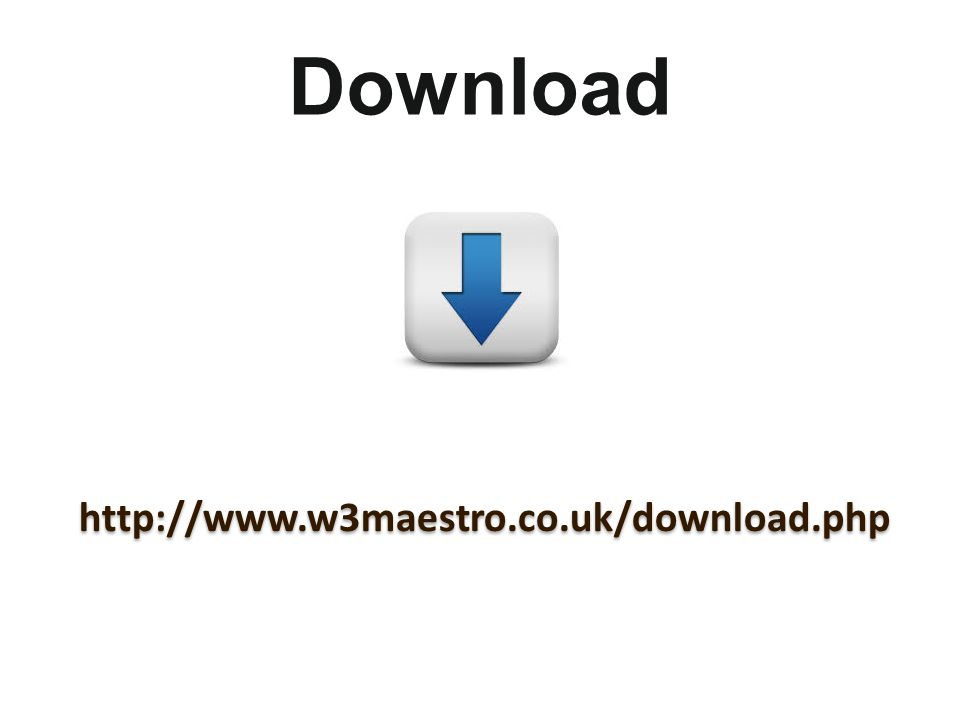 Download http://www.w3maestro.co.uk/download.php