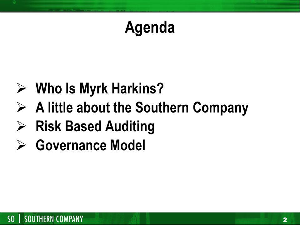 Performing Governance Assessments Myrk Harkins CIA, CBM