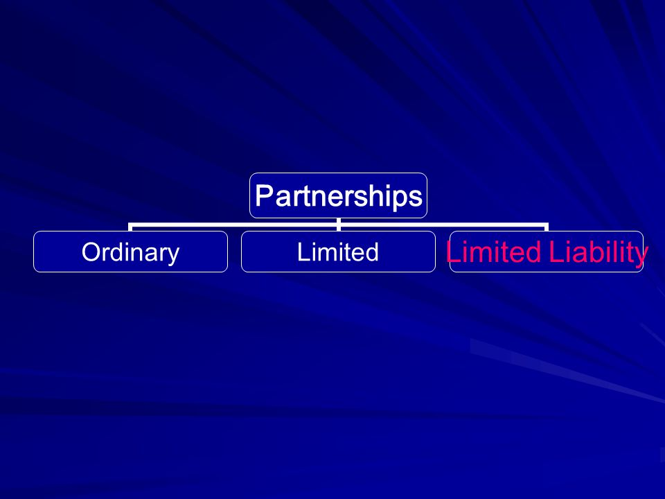 Partnerships OrdinaryLimitedLimited Liability