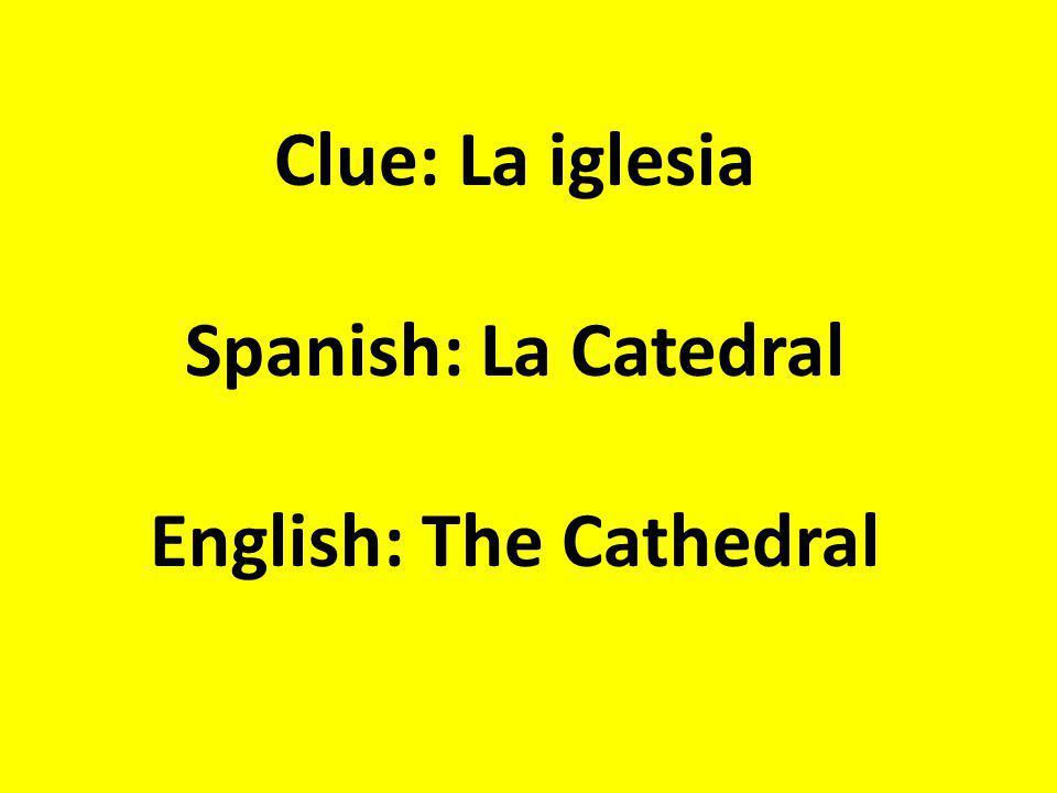 Clue: Luminoso, Preciso, Transparente Spanish: Claro English: Clear, light in color, of course