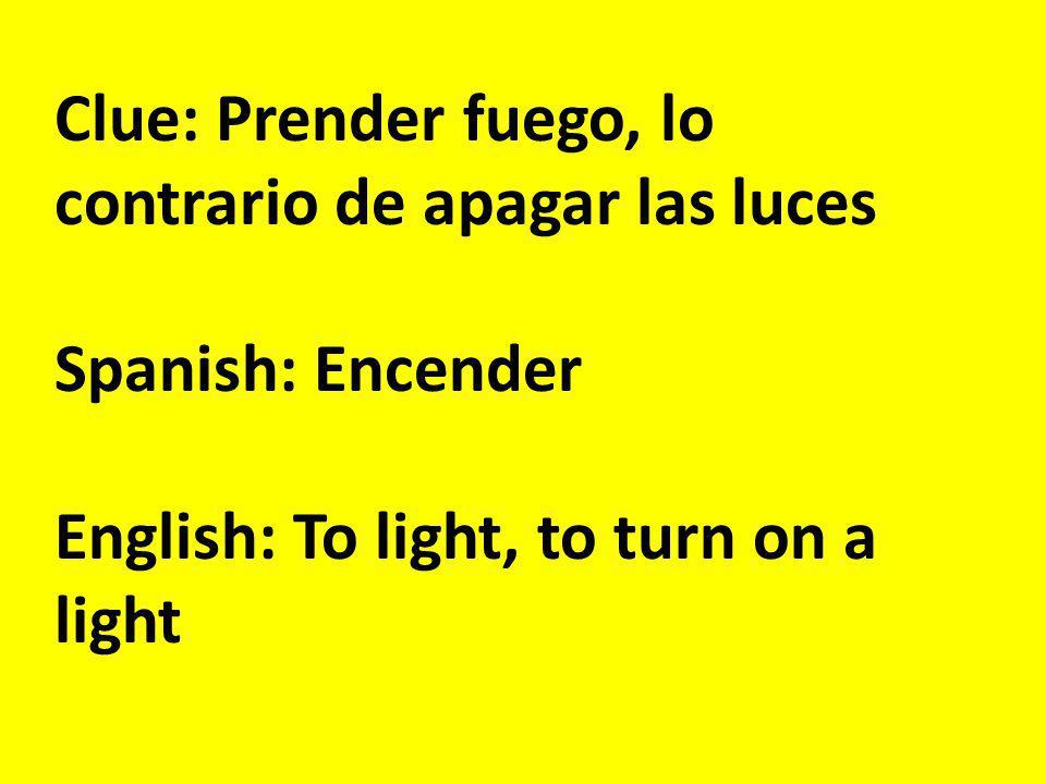 Clue: La demora Spanish: El retraso English: The delay