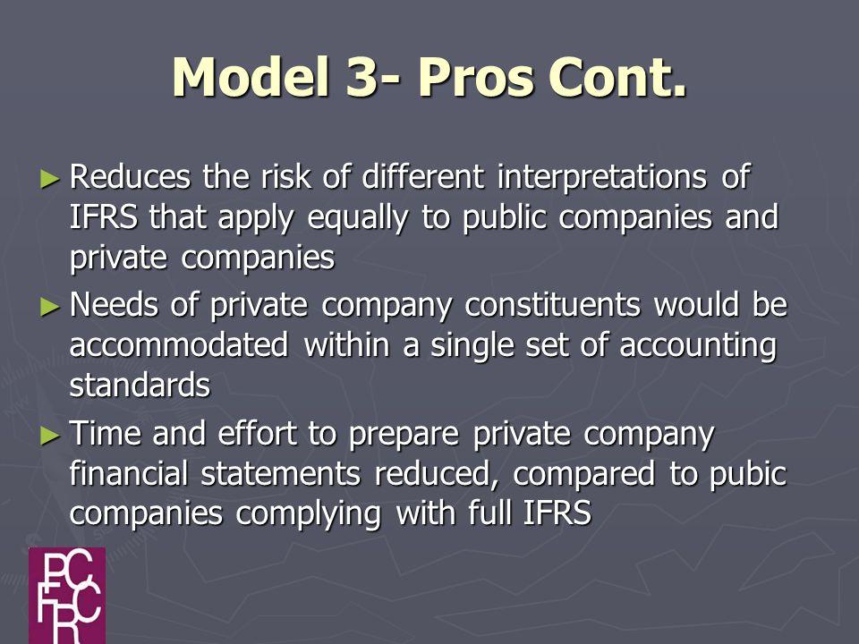 Model 3- Pros Cont.
