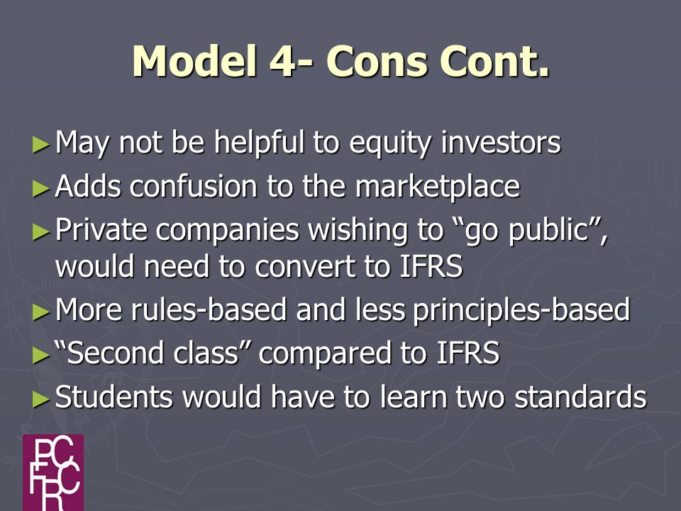 Model 4- Cons Cont.