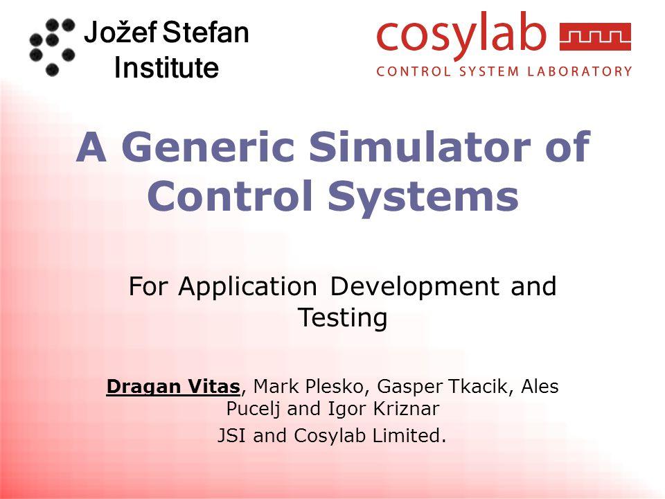 Jožef Stefan Institute www.cosylab.com 30 User MasterBuild.xml CosyBuild.xml Project 1 Project 2...