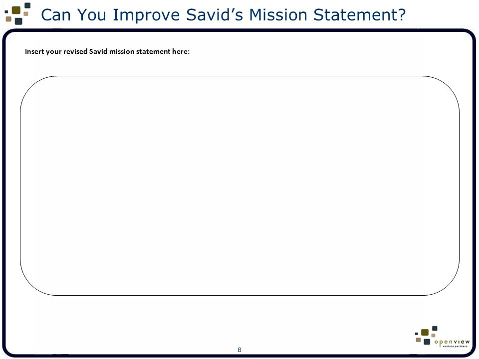 19 Can You Improve Cigna's Vision Statement.