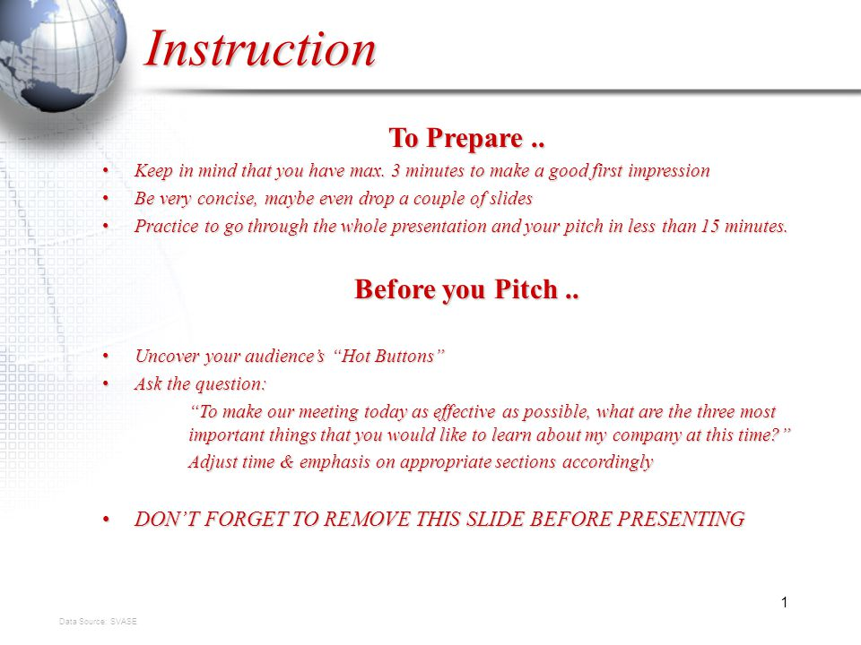 1 Instruction To Prepare.. Keep in mind that you have max.