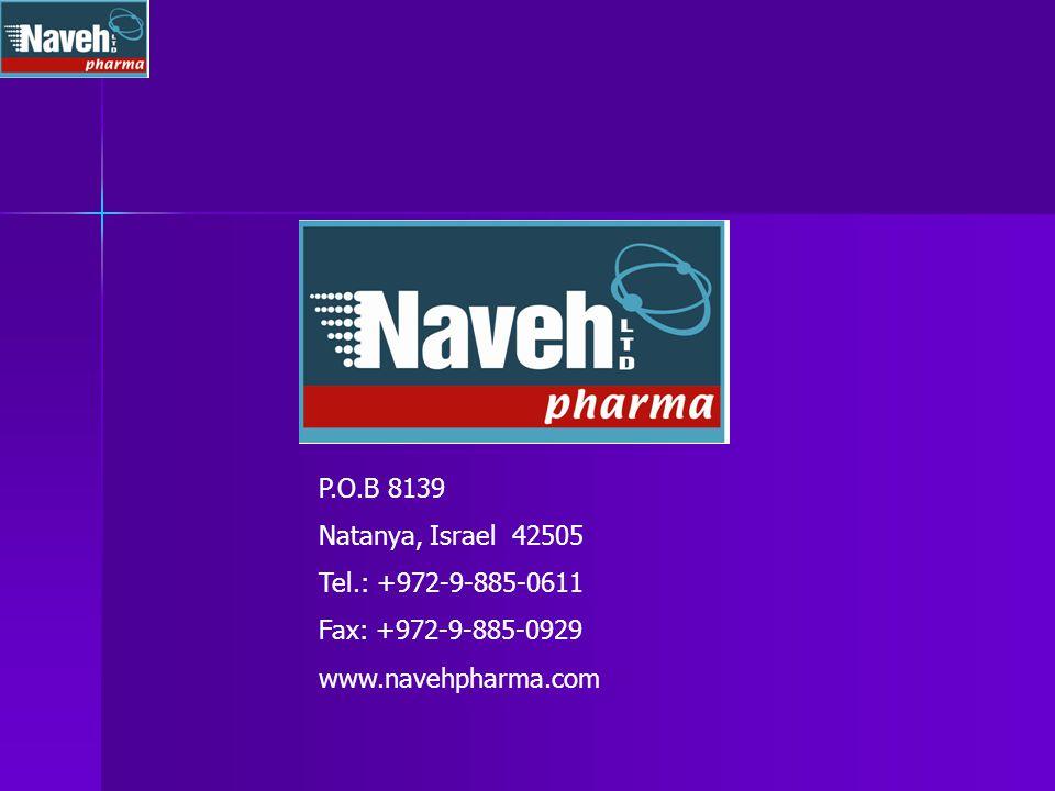 P.O.B 8139 Natanya, Israel 42505 Tel.: +972-9-885-0611 Fax: +972-9-885-0929 www.navehpharma.com