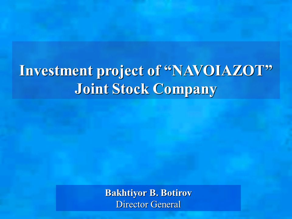 General information about the company Type of ownership: joint stock company Number of personnel: 9816 people Total production areas: 361.63 hectares Date of establishment of the enterprise: 1964