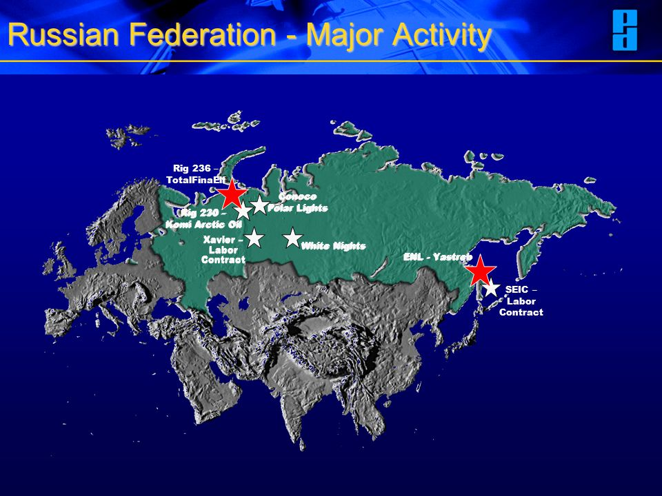 Russian Federation - Major Activity ENL - Yastreb SEIC – Labor Contract White Nights Xavier – Labor Contract Xavier – Labor Contract Rig 236 – TotalFi