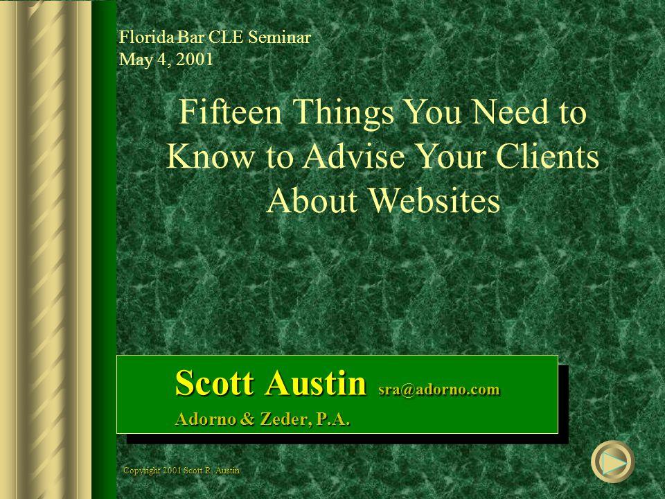 Scott Austin sra@adorno.com Adorno & Zeder, P.A. Scott Austin sra@adorno.com Adorno & Zeder, P.A.