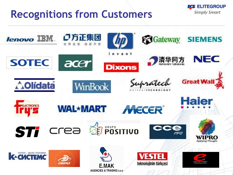 Recognitions from Customers