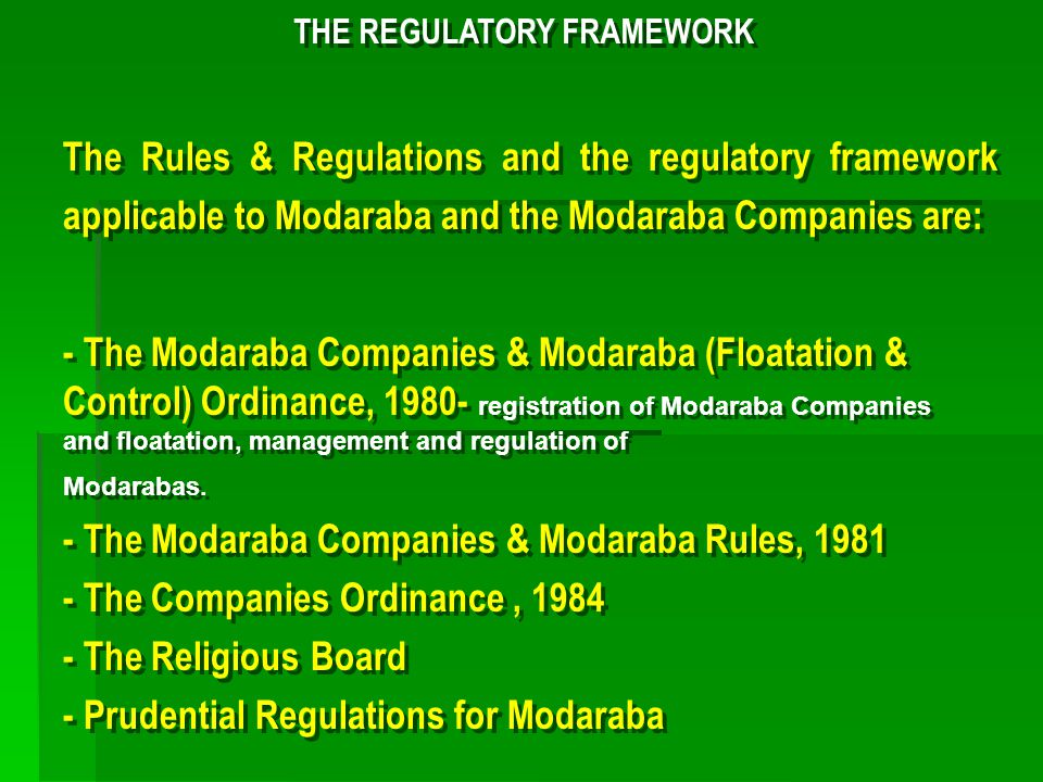 ROLE OF MODARIB IN PAKISTAN A Modaraba floated by an MMC is the manager (Modarib).