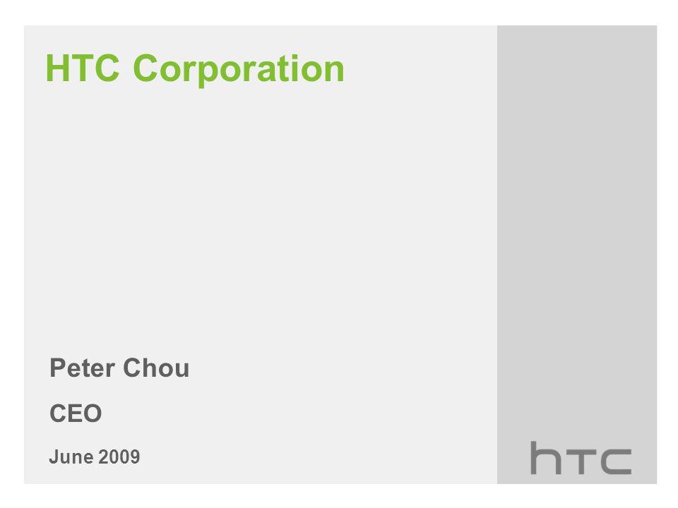 HTC Corporation Peter Chou CEO June 2009