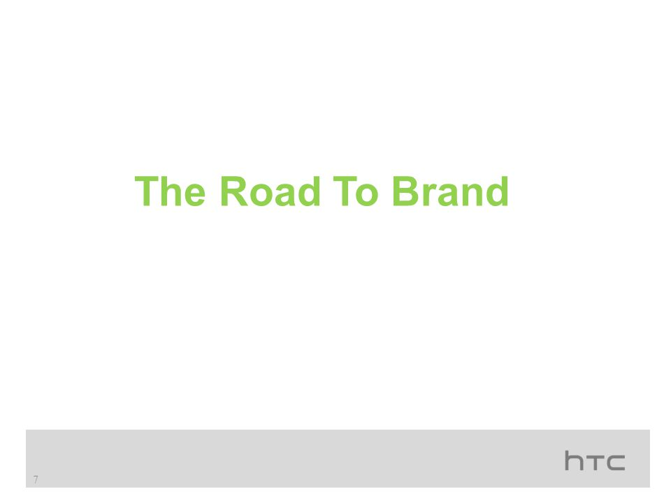 The Road To Brand 7