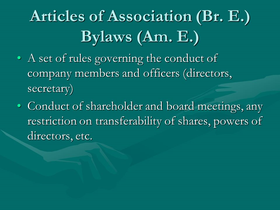 Certificate of incorporation A document certifying that the company is incorporatedA document certifying that the company is incorporated The validity of the incorporation cannot thereafter be challengedThe validity of the incorporation cannot thereafter be challenged