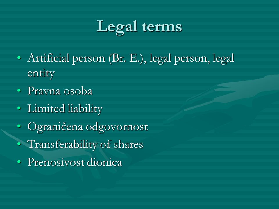 Introduction to Company Law: Exercise Complete the text by using the following words: agreements, borrow, corporations, court, debts, dividends, employees, legal, legislation, liability, limited, objectives, partnership, profits, property, registered (x2), shareholders, sole trader, sueComplete the text by using the following words: agreements, borrow, corporations, court, debts, dividends, employees, legal, legislation, liability, limited, objectives, partnership, profits, property, registered (x2), shareholders, sole trader, sue