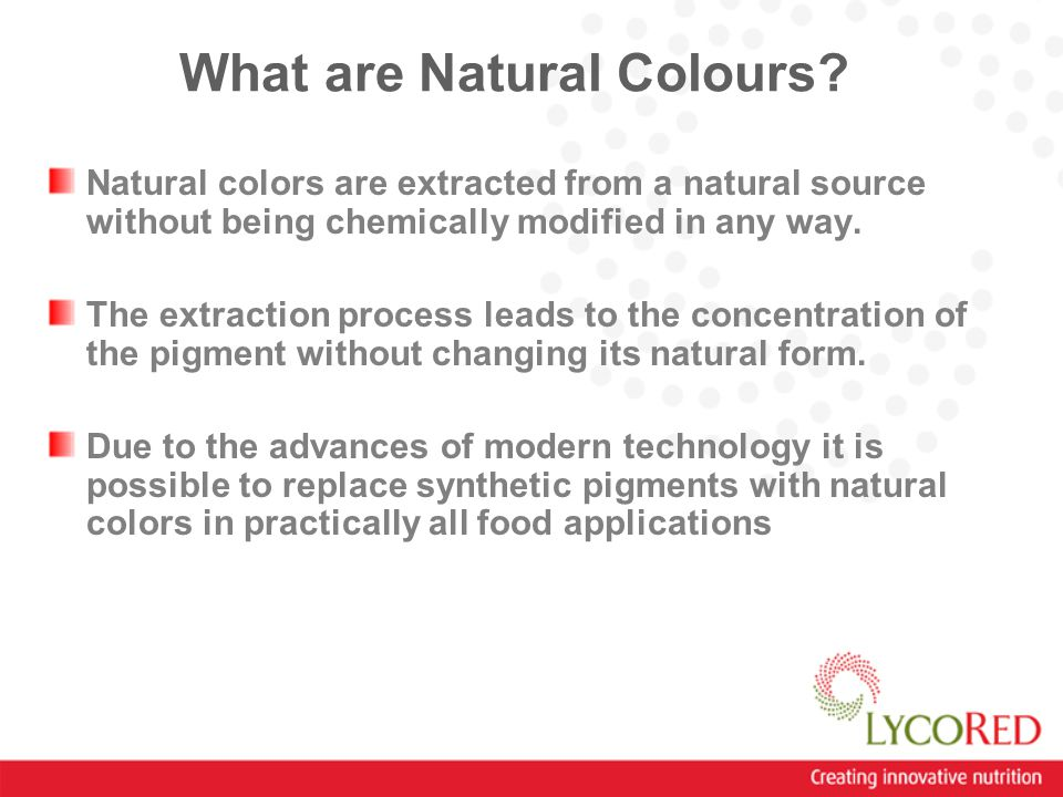 What are Natural Colours.