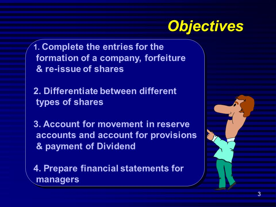 3 Objectives 1.