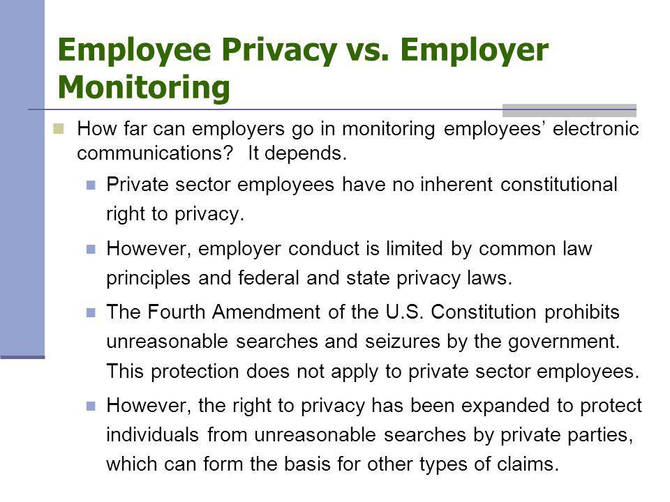 Employee Privacy vs.