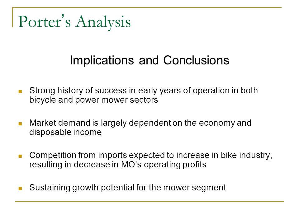 Financial Analysis SalesProfits 198219831984198219831984 Power Mowers 54%53%62%73%68%88% Bicycles46%47%38%27%32%12%