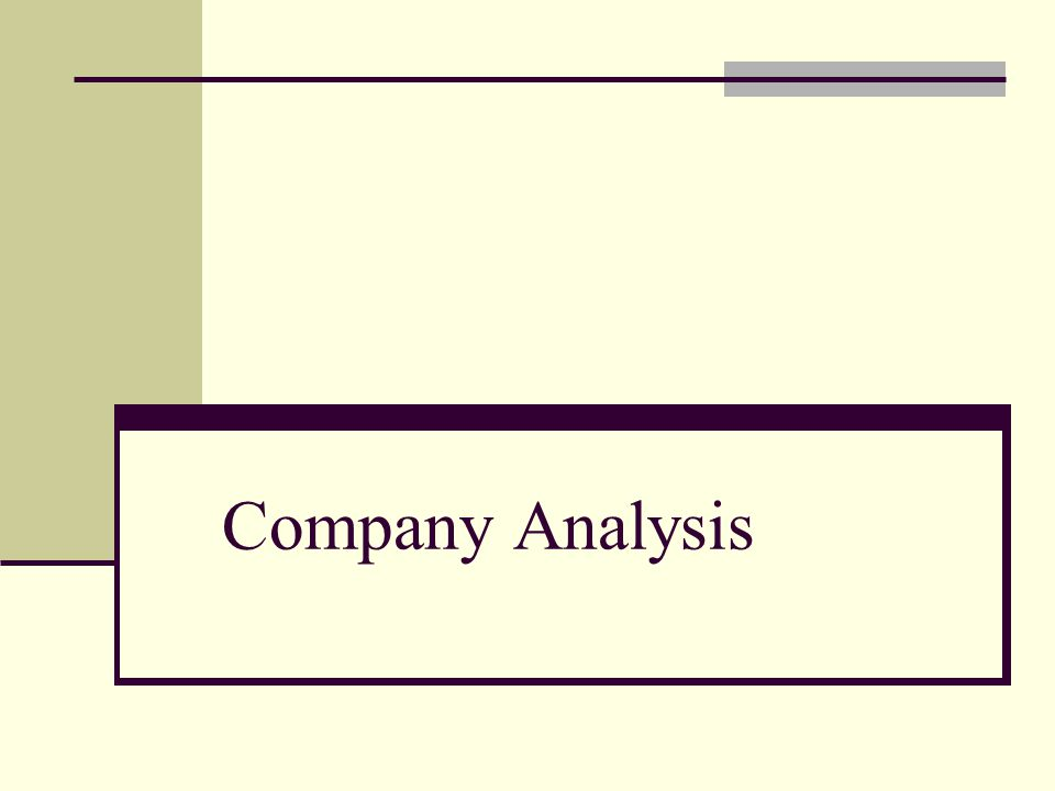 Goal is to understand the internal workings of the company and its relationship to its external environment.