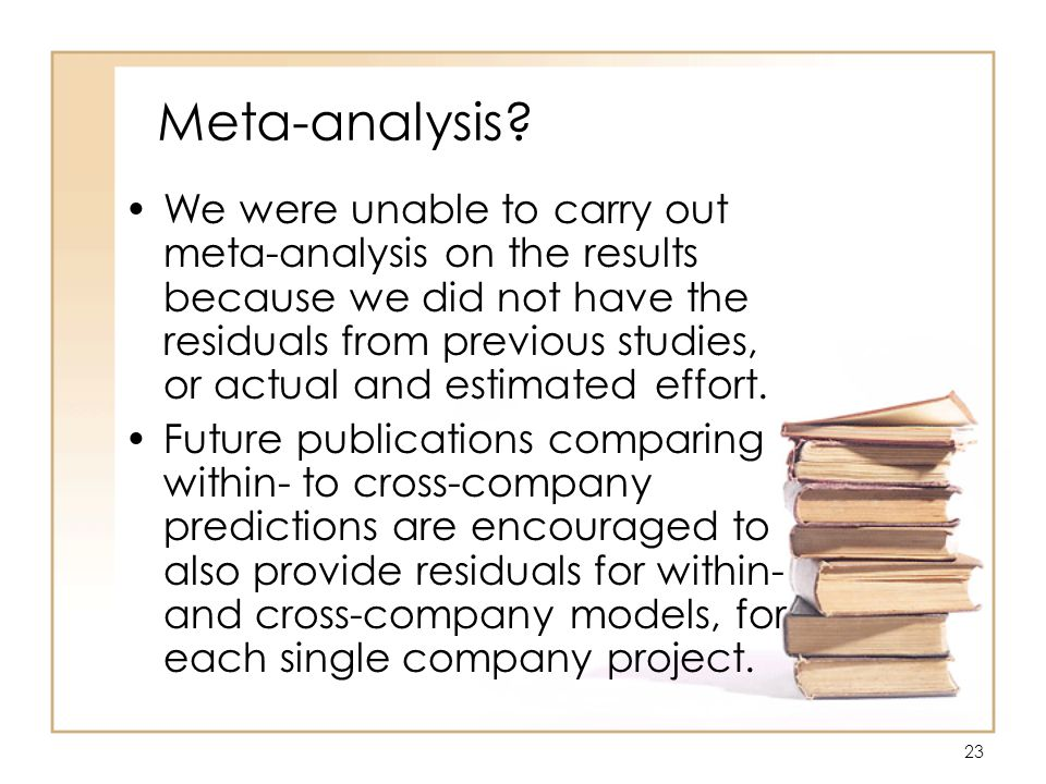 23 Meta-analysis.