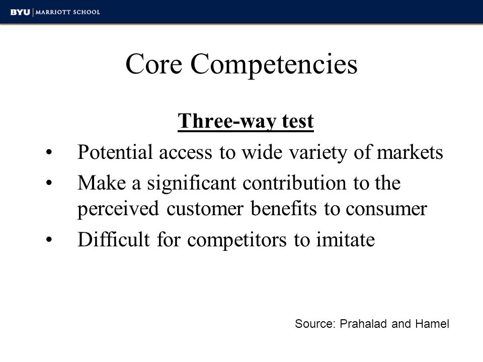 Meta competencies Name for a grouping of core competencies Source: Shirish Srivastava