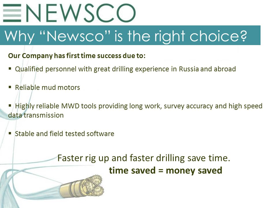 Why Newsco is the right choice.