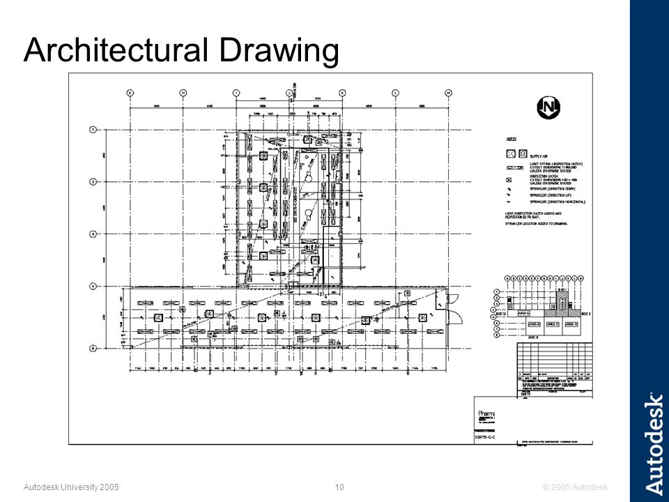 © 2005 Autodesk10 Autodesk University 2005 Architectural Drawing