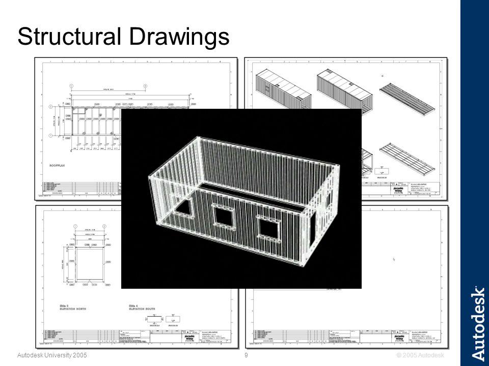 © 2005 Autodesk10 Autodesk University 2005 Architectural Drawing