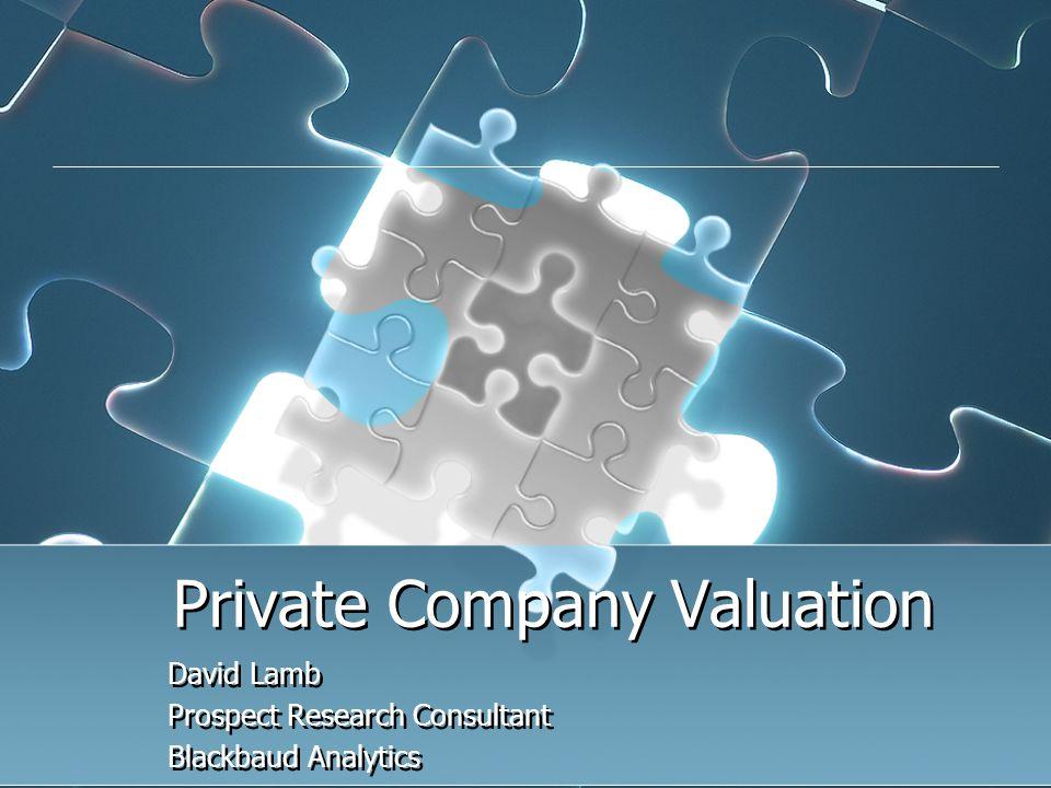 Valuation Tools