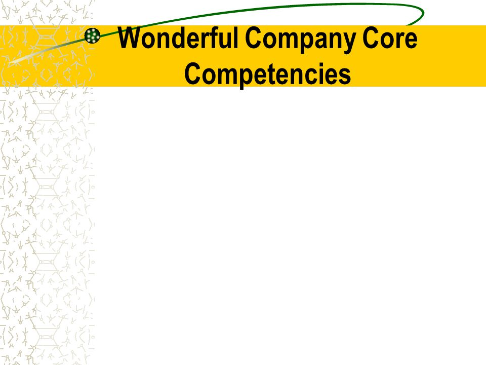 Wonderful Company Core Competencies