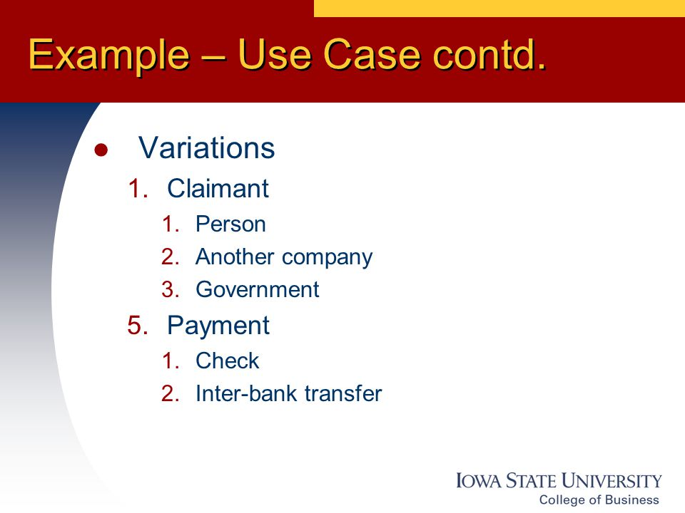 Example – Use Case contd.