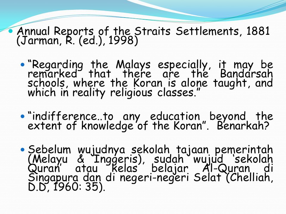 Annual Reports of the Straits Settlements, 1881 (Jarman, R.