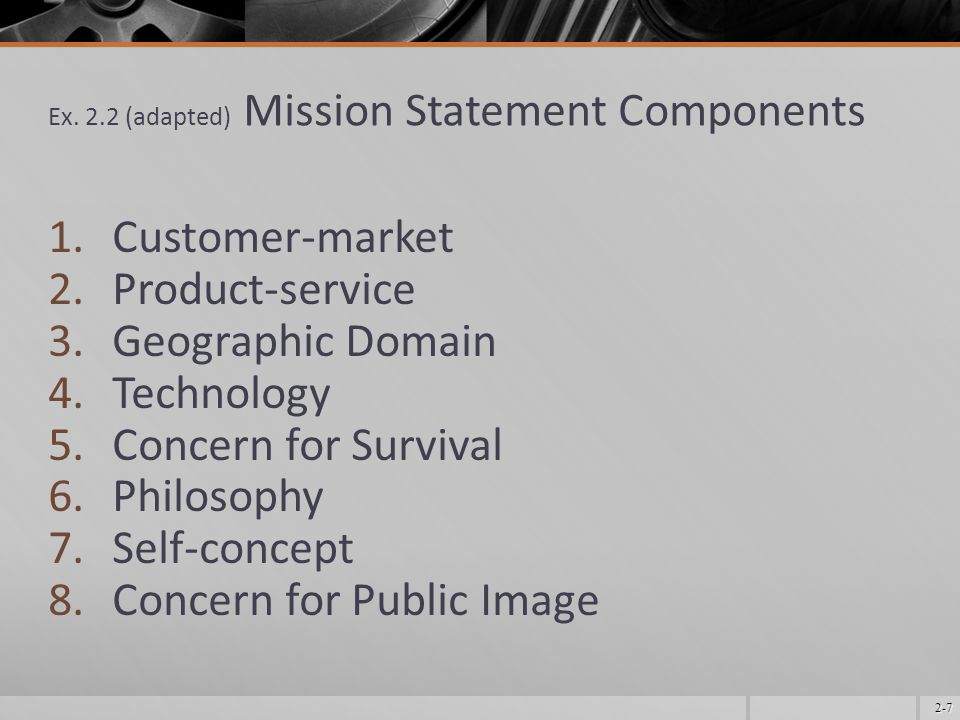 2-18 Newest Trends in Mission Components (contd.)  Quality  Quality is job one!  The work of W.