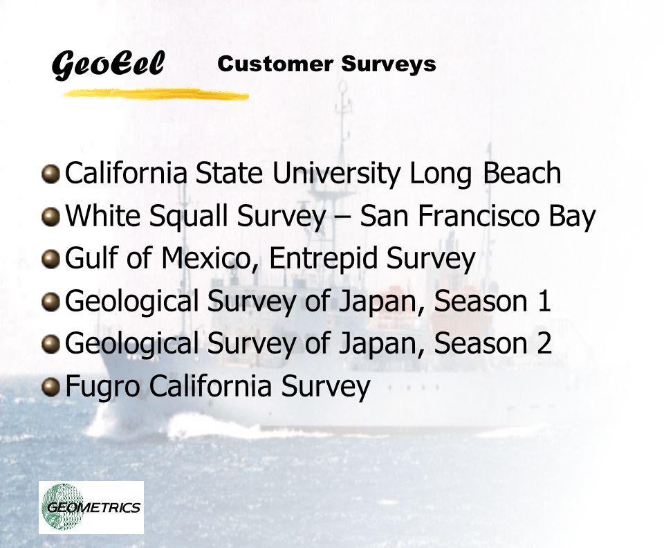 GeoEel Customer Surveys California State University Long Beach White Squall Survey – San Francisco Bay Gulf of Mexico, Entrepid Survey Geological Surv