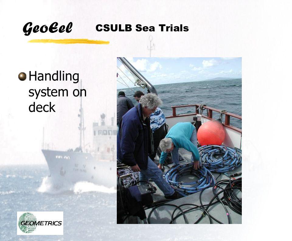 GeoEel CSULB Sea Trials Handling system on deck