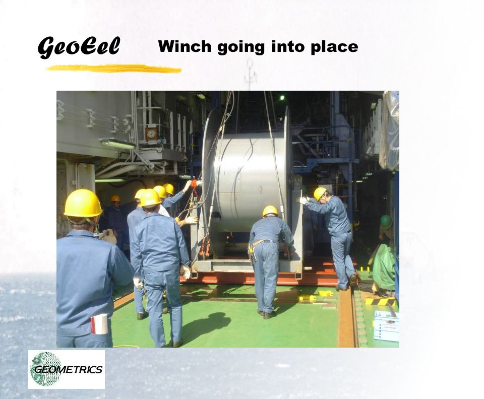 GeoEel Winch going into place