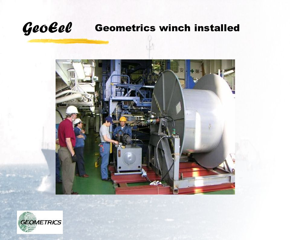 GeoEel Geometrics winch installed
